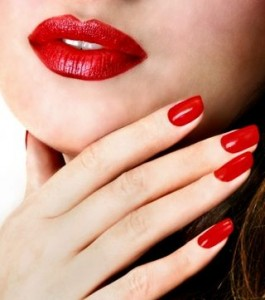 Pretty Red Nails at a Bargain