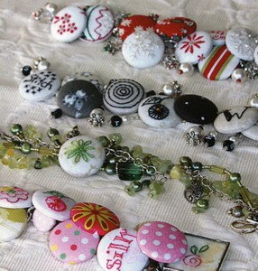 Using Old Buttons, Fabric Scraps, and Broken Jewelry Parts