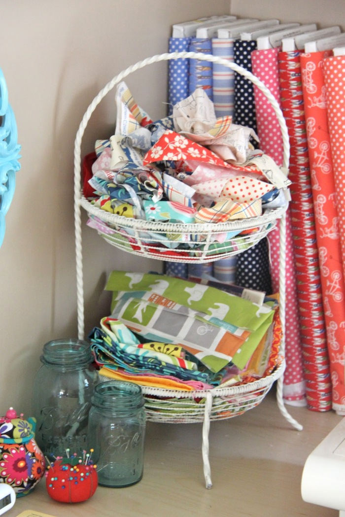 Super Cute Fabric Scrap Storage